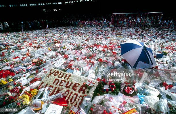 Sadness envelops Anfield and the Kop Stand as many hundreds of thousands of tributes are laid in memory of the 96 people who died at Hillsborough...