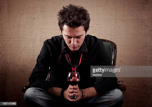 Tristezza giovane uomo