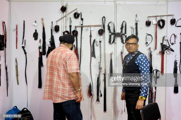 A sadomasochist booth at the Asia Adult Expo 2017 a tHong Kong Convention and Exhibition Centre in Wan Chai Hong Kong 30AUG17 [FEATURES] SCMP / James...
