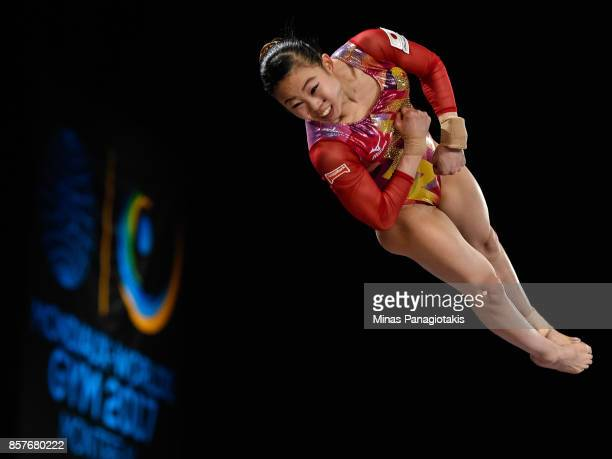 Sae Miyakawa of Japan competes on the vault during the qualification round of the Artistic Gymnastics World Championships on October 4 2017 at...