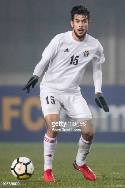 Saed Al Rosan of Jordan in action during the AFC U23 Championship China 2018 Group C match between Iraq and Jordan at Changshu Sports Center on 16...