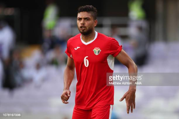 Saeed Almurjan of Jordan in action during the AFC Asian Cup Group B match between Australia and Jordan at Hazza Bin Zayed Stadium on January 6 2019...
