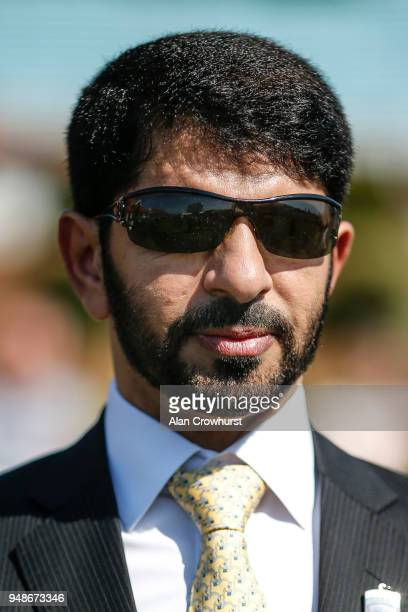Saeed bin Suroor poses at Newmarket racecourse on April 19 2018 in Newmarket England