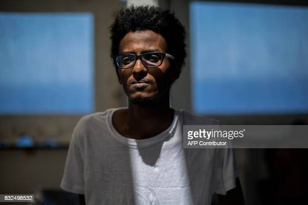 Saeed Safeeldeen Abdalhaleem From Sudan 29 Poses For A Portrait On The Deck Of Aquarius Rescue Ship Run By NGO SOS Mediterranee And Medecins Sans