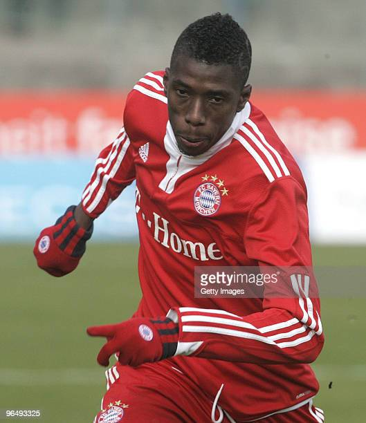 Saer Sene of FC Bayern II during the 3Liga match between SpVgg Unterhaching and Bayern Muenchen II at the Generali Sportpark on January 24 2010 in...