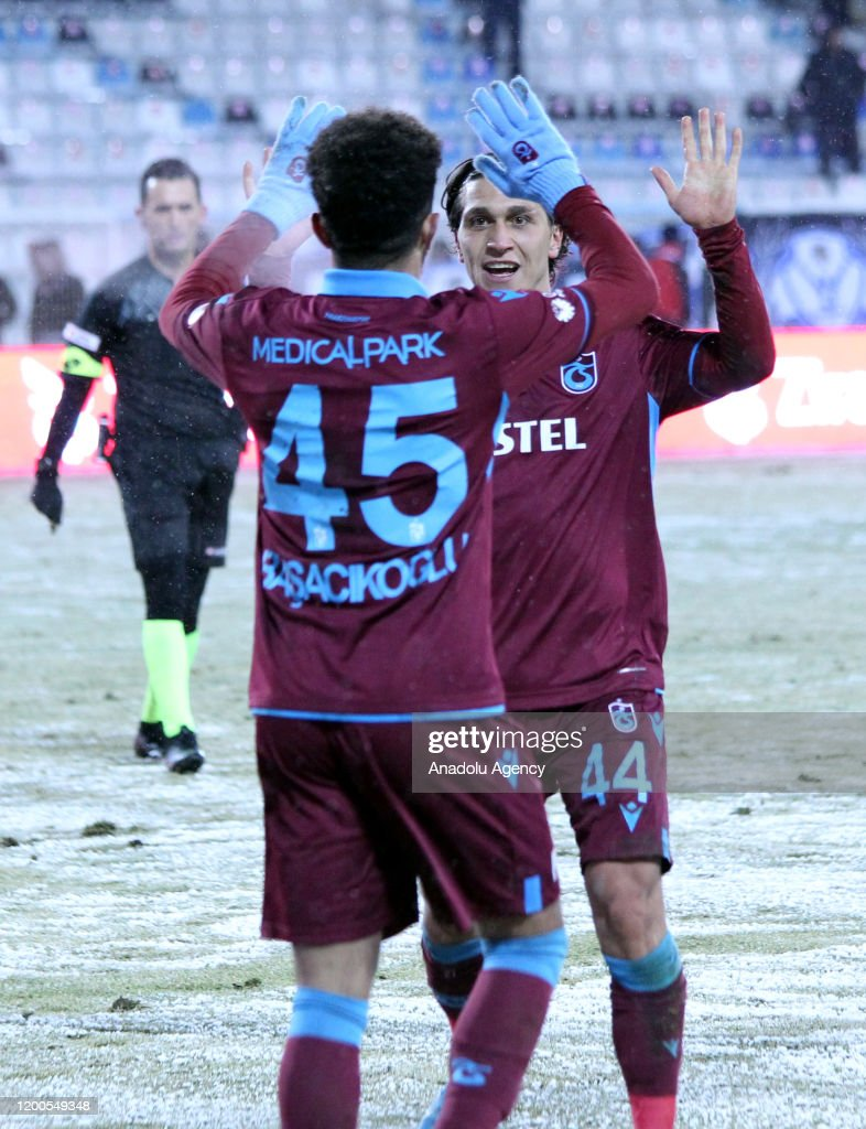 Safa Kinali of Trabzonspor celebrates after scoring a goal during the...  News Photo - Getty Images