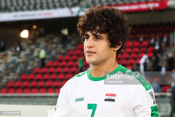 Safaa Hadi AlFuraiji of Iraq in action during the AFC Asian Cup Group D match between Iraq and Vietnam at Zayed Sports City Stadium on January 8 2019...