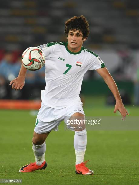 Safaa Hadi AlFuraiji of Iraq in action during the AFC Asian Cup Group D match between Iraq and Vietnam at Zayed Sports City Stadium on January 08...