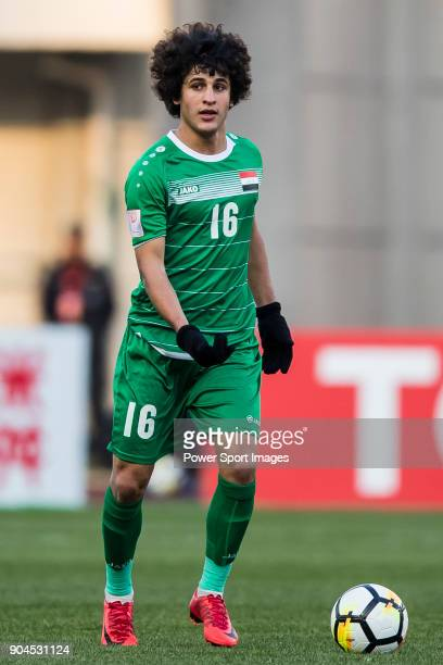 Safaa Hadi of Iraq in action during the AFC U23 Championship China 2018 Group C match between Iraq and Malaysia at Changshu Sports Center on 10...