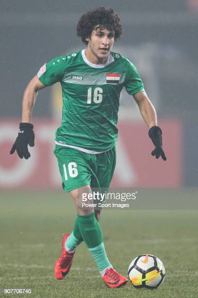 Safaa Hadi of Iraq in action during the AFC U23 Championship China 2018 Group C match between Iraq and Jordan at Changshu Sports Center on 16 January...