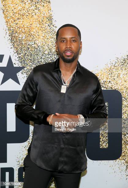 Safaree Samuel arrives at the BET Hip Hop Awards 2018 at Fillmore Miami Beach on October 6 2018 in Miami Beach Florida