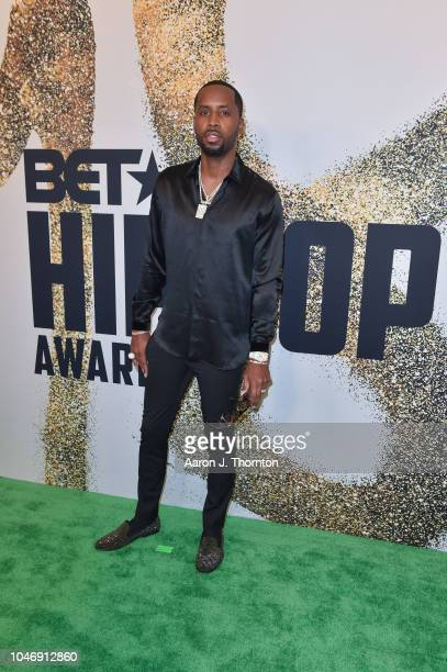 Safaree Samuel arrives to the BET Hip Hop Awards at the Fillmore Miami Beach on October 6 2018 in Miami Beach Florida
