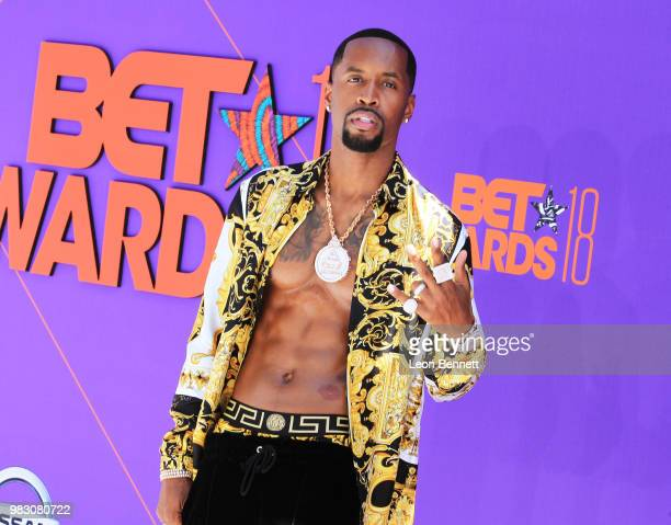 Safaree Samuels attends the 2018 BET Awards at Microsoft Theater on June 24 2018 in Los Angeles California
