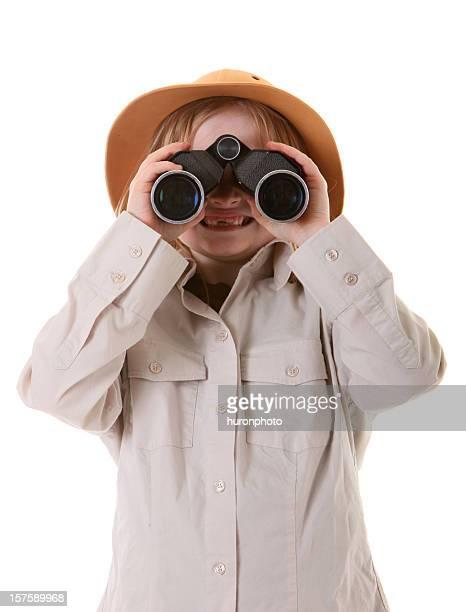 safari girl with binoculars