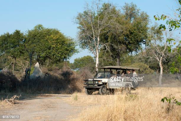 Safari vehicle Chief Island Moremi Game Reserve Okavango Delta Botswana