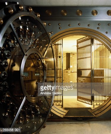 Safe Deposit Box Vault In Bank Stock Photo Getty Images
