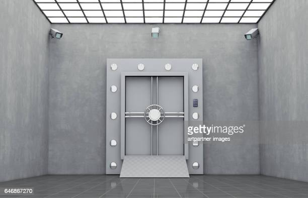 Safe Door with Security Cameras