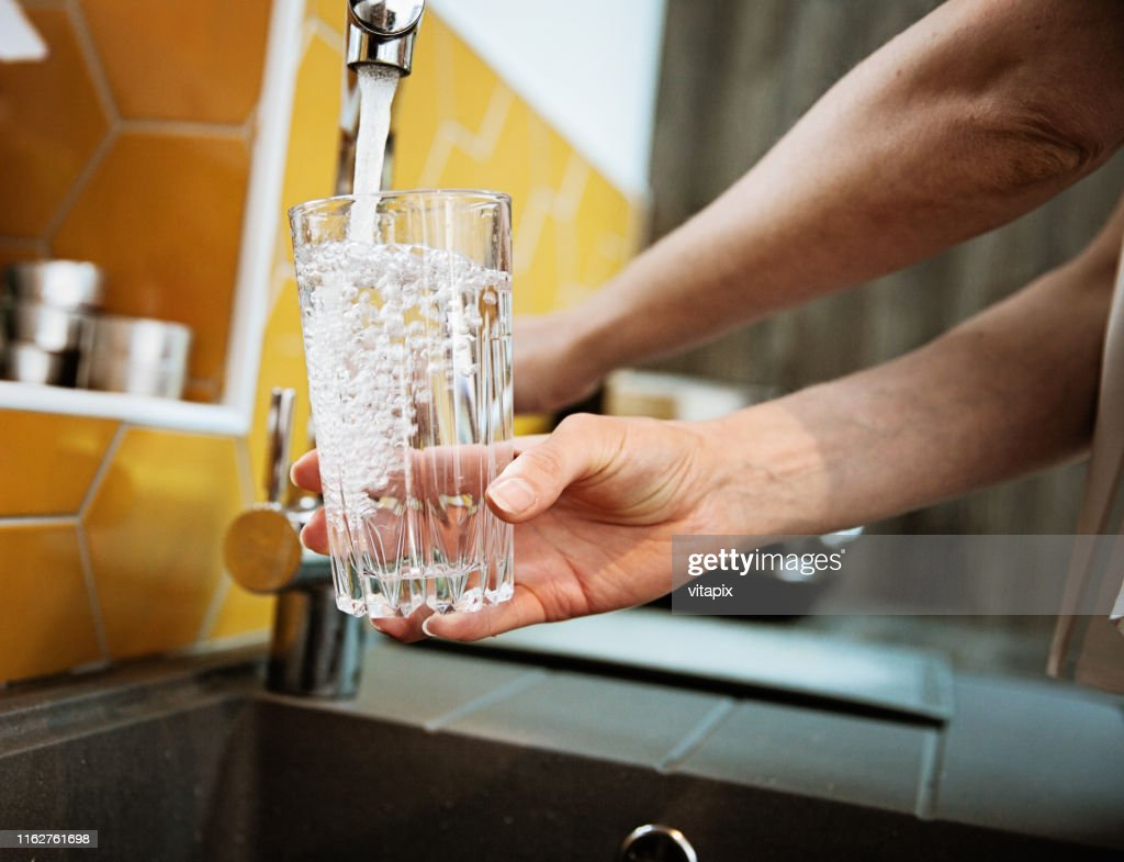 Safe Drinking Tap Water : Stock Photo