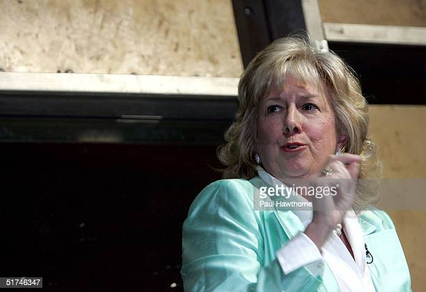 Safe Horizon's Linda Fairstein speaks during Safe Horizons presents an evening inside Law and OrderSVU at Crobar November 15 2004 in New York City