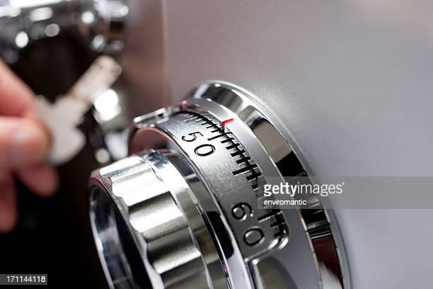 Safe locking dial.