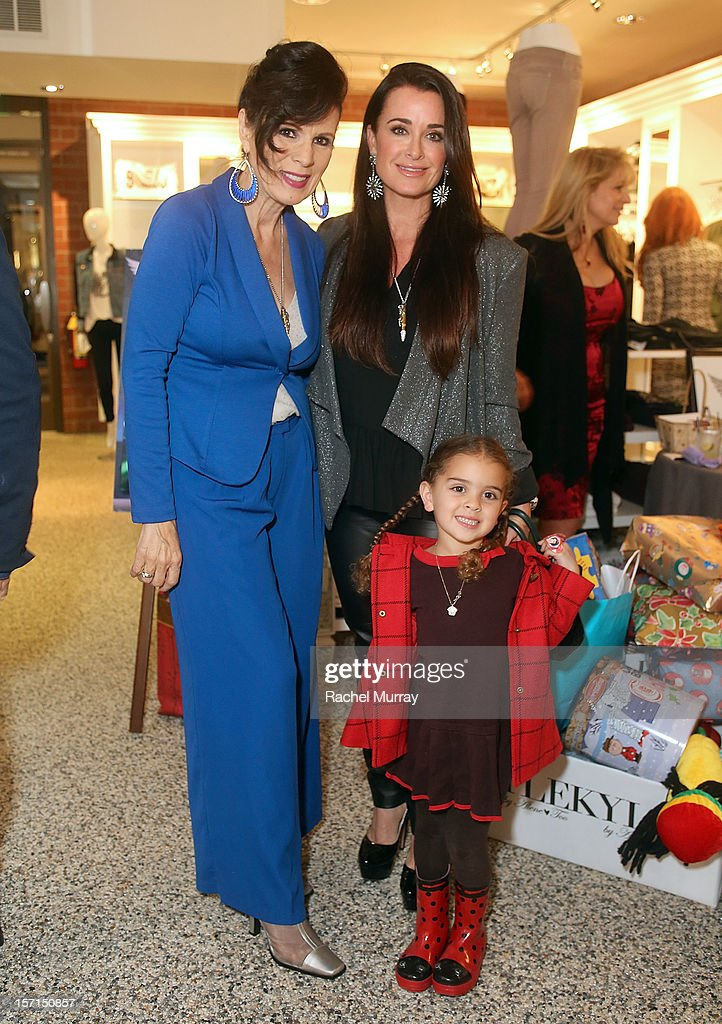 Safe Passage Founder Trish Steele, Kyle Richards, and Portia Umansky attend Kyle By Alene Too holiday shopping event featuring Bullets For Peace benefiting Safe Passage Charity on November 28, 2012 in Beverly Hills, California.