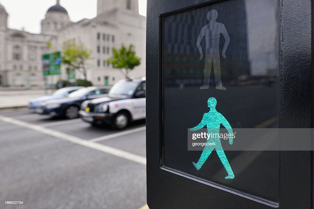 Safe to Cross the Road - Pedestrian Crossing : Stock Photo
