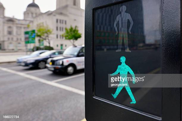 safe to cross the road - pedestrian crossing - pedestrian crossing stock photos and pictures