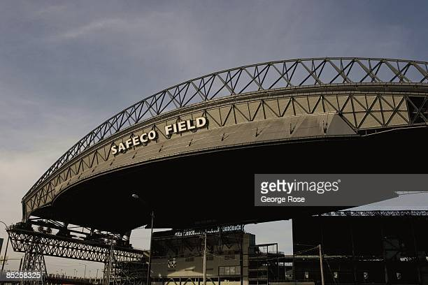 Safeco Field's metal retractable roof covering the home of the Seattle Mariners American League Baseball team is seen in this 2009 Seattle Washington...