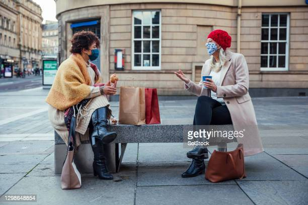 safely meeting in the city - sloppy joe, jr stock pictures, royalty-free photos & images