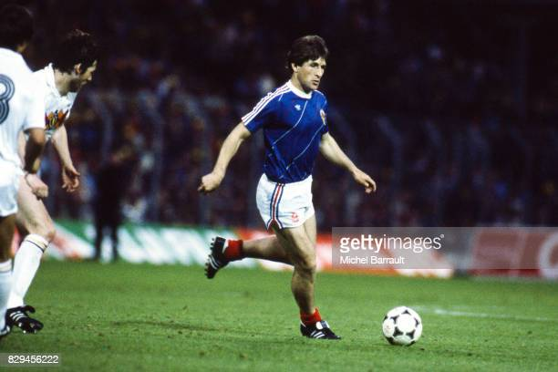 Safet Susic of Yugoslavia during the European Championship match between Belgium and Yugoslavia at La Meinau in Strasbourg France on 13th June 1984