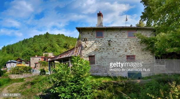 safetis watermill at palaioseli konitsa - dimitrios tilis stock pictures, royalty-free photos & images
