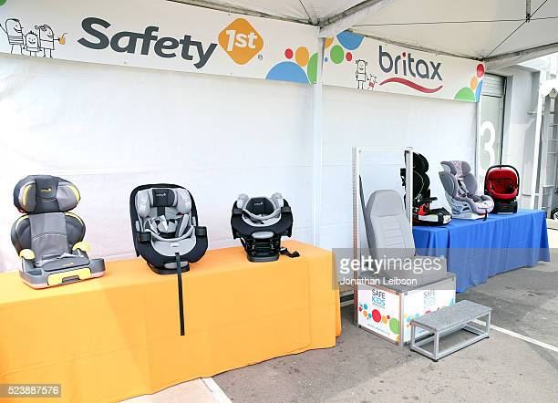Safety 1st and Britax child car seats displayed at Safe Kids Day 2016 presented by Nationwide at Smashbox Studios on April 24 2016 in Los Angeles...