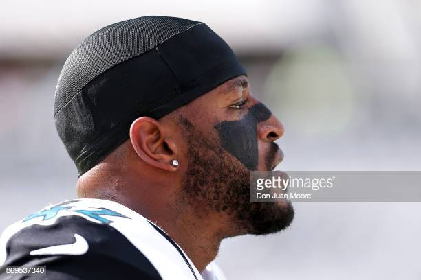Safety Barry Church of the Jacksonville Jaguars during the game against the Los Angeles Rams at EverBank Field on October 15 2017 in Jacksonville...