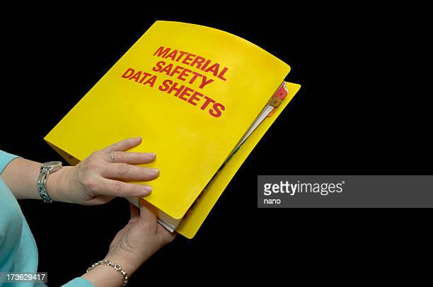 msds safety binder front - environmental protection agency stock photos and pictures