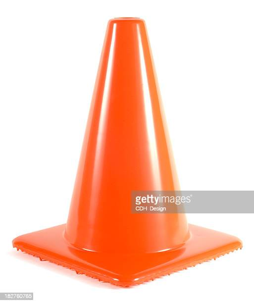 A safety cone on a white background