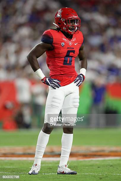 Safety Demetrius FlanniganFowles of the Arizona Wildcats during the college football game against the Brigham Young Cougars at University of Phoenix...