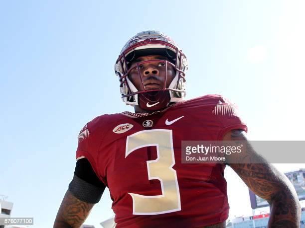 Safety Derwin James of the Florida State Seminoles before the game against the Delaware State Hornets at Doak Campbell Stadium on Bobby Bowden Field...