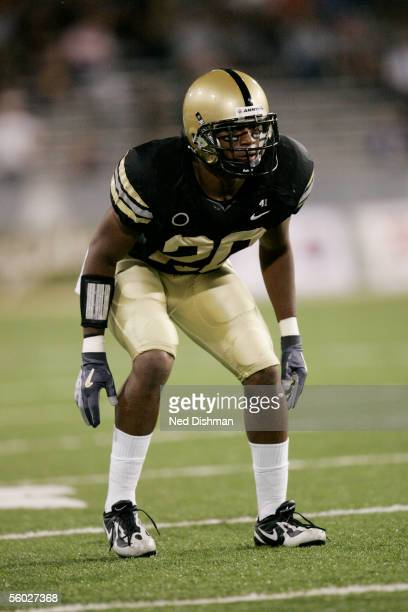 Safety Dhyan Tarver of the Army Black Knights lines up against the Iowa St. Cyclones during their game on September 23, 2005 at Michie Stadium in...