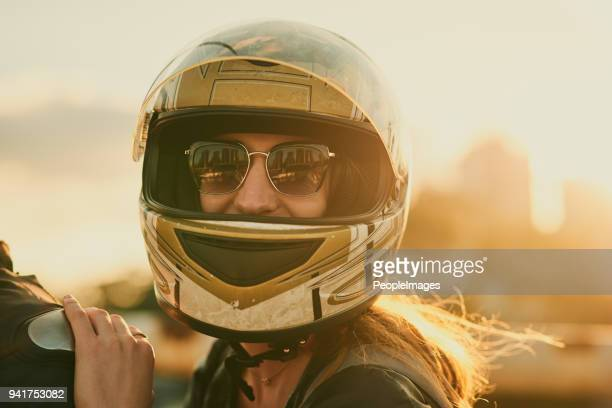 safety first no matter the adventure - motorcycle biker stock pictures, royalty-free photos & images