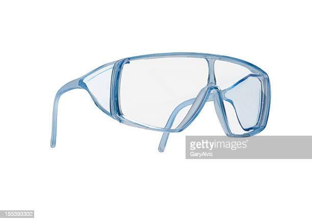 sicherheit brille mit clipping path - schutzbrille stock-fotos und bilder