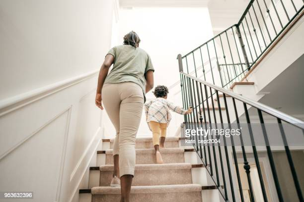 safety home features - staircase stock pictures, royalty-free photos & images