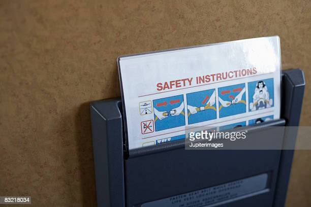 Safety instructions on airplane