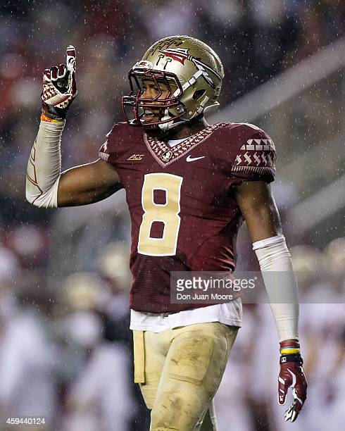 Safety Jalen Ramsey of the Florida State Seminoles during the game against the Boston College Eagles at Doak Campbell Stadium on Bobby Bowden Field...