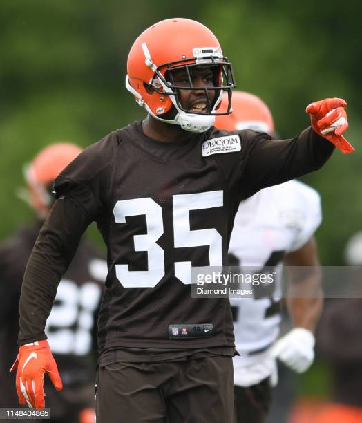 Safety Jermaine Whitehead of the Cleveland Browns on the field during a mandatory mini camp practice on June 4 2019 at the Cleveland Browns training...