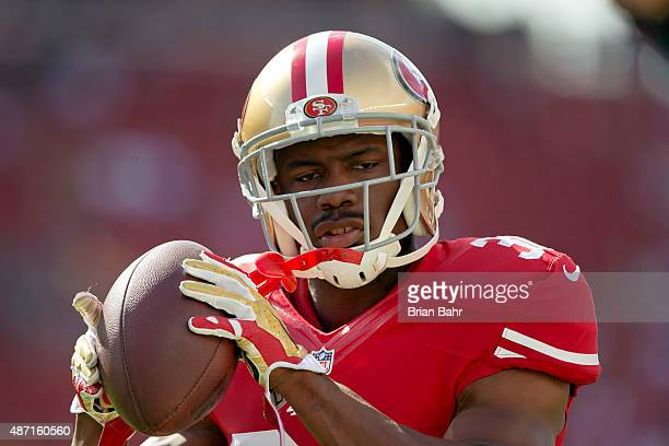 Safety Jermaine Whitehead of the San Francisco 49ers catches a pass before a preseason game against the Dallas Cowboys on August 23 2015 at Levi's...