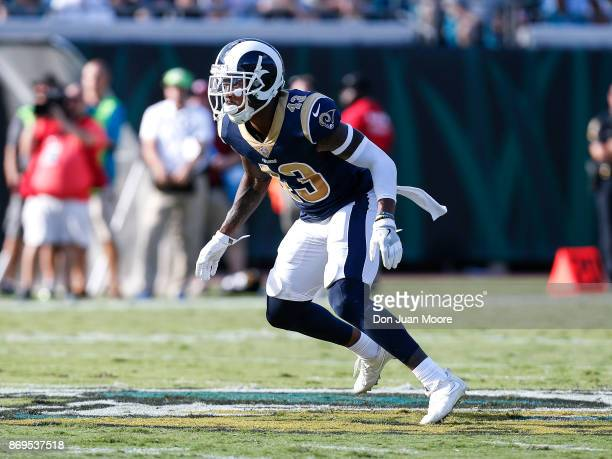 Safety John Johnson III of the Los Angeles Rams during the game against the Jacksonville Jaguars at EverBank Field on October 15 2017 in Jacksonville...