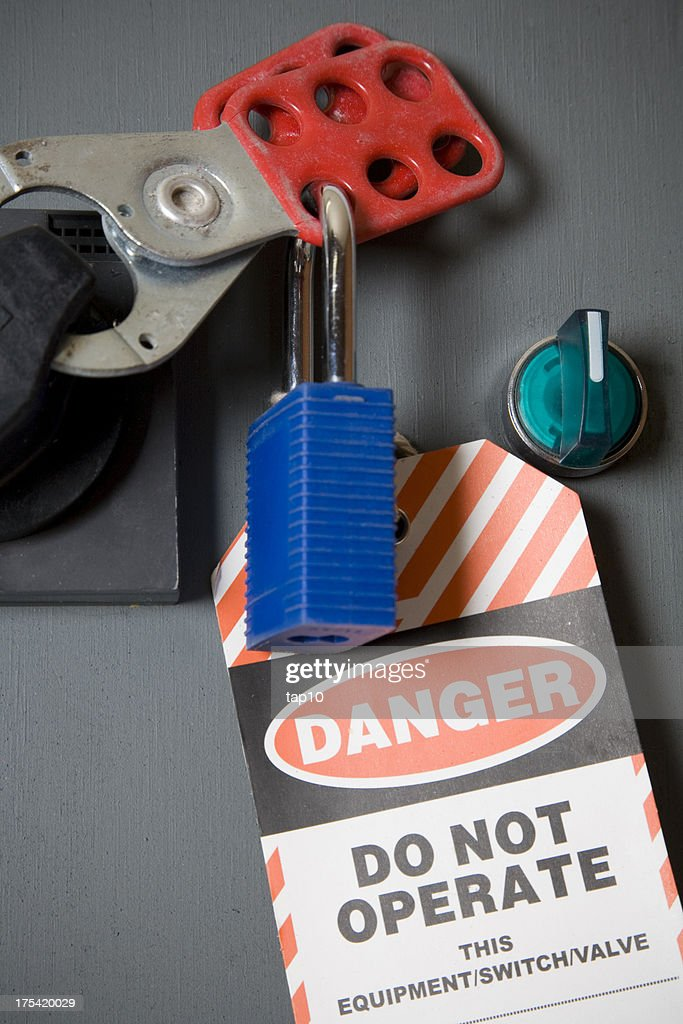 Safety Lock and Tag : Stock Photo