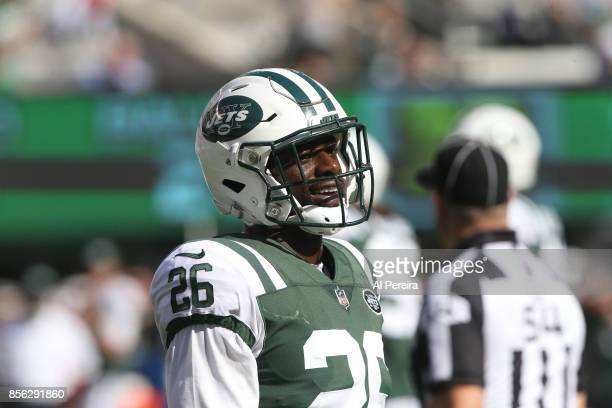 Safety Marcus Maye of the New York Jets in action against the Miami Dolphins on September 24 2017 at MetLife Stadium in East Rutherford New Jersey...