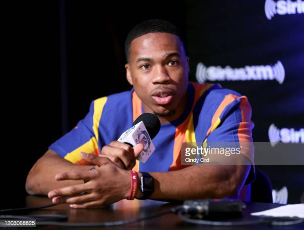 NFL safety Marcus Williams of the New Orleans Saints speaks onstage during day 2 of SiriusXM at Super Bowl LIV on January 30 2020 in Miami Florida