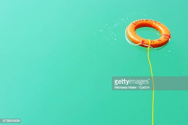 Safety Ring Floating In Swimming Pool